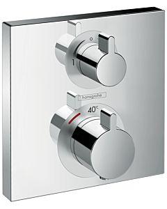 Hansgrohe Ecostat Square Brausethermostat 15714000 chrom, Unterputzthermostat, für 2 Verbraucher