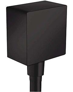 hansgrohe Raccord de tuyau FixFit 26455670 DN 15, avec clapet anti-retour et cornière en plastique, noir mat