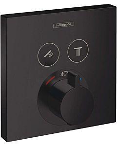 hansgrohe ShowerSelect Fertigmontageset 15763670 UP-Thermostat, für 2 Verbraucher, mattschwarz