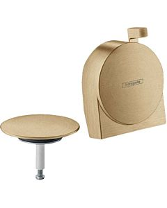 hansgrohe Exafill S trim set 58117140 bathtub spout, with surge jet, brushed bronze