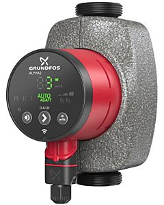 Grundfos Alpha 2 32-80 Hocheffizienzpumpe 99261738 180mm, 230V, 50Hz, 6H, D-A-CH, Modell 2017