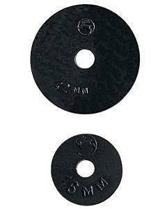 HAAS Oha Qualitäts-Wasserhahnscheibe 3522 22x4x4,5mm, schwarz