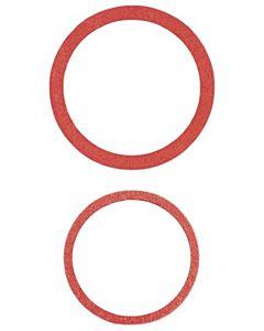 HAAS Fiber-Ring 7343 27x32x1,5mm, rotbraun, warm/kalt