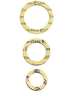 """HAAS OHA-Press Verschraubungsdichtung 8833 gelb, 21x30x1,8mm, 1/2"""", klein"""