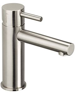 Herzbach Design iX Waschtischarmatur 17133100109 Edelstahl gebürstet, mit Ablaufgarnitur