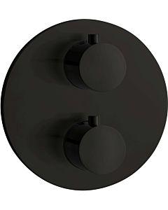 Herzbach Deep Black Fertigmontageset 23.503050.1.12 2 Verbraucher, schwarz matt, Brause-Thermostat