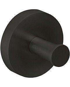 Herzbach Deep Black Handtuchhaken 23.819000.1.12 32 mm, schwarz matt, Wandmontage
