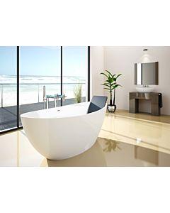 Hoesch Namur freistehende Badewanne 4404.013305 weiß matt, Solique, 160 x 75 cm, verchromt