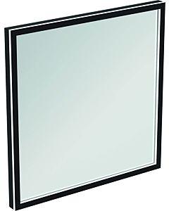 Ideal Standard Conca Spiegel T3965BH 60x3,8x60 cm, carré, avec éclairage, neutre, Rahmen noir