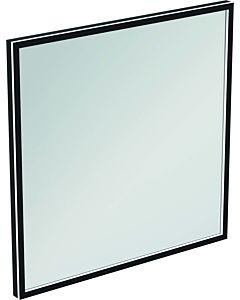 Ideal Standard Conca Spiegel T3966BH 80x3,8x80 cm, carré, avec éclairage, neutre, Rahmen noir
