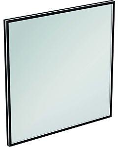 Ideal Standard Conca Spiegel T3967BH 100x3,8x100 cm, carré, avec éclairage, neutre, Rahmen noir