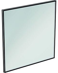 Ideal Standard Conca Spiegel T3968BH 120x3,8x120 cm, carré, avec éclairage, neutre, Rahmen noir