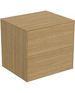 Ideal Standard vasque Conca T4321Y6 sans découpe, 2 tiroirs, 60x50,5x55 cm, placage Eiche hell
