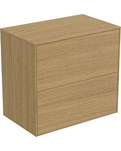 Ideal Standard vasque Conca T4327Y6 sans découpe, 2 tiroirs, 60x37x55 cm, placage Eiche hell