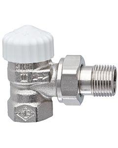 """Heimeier Thermostatventil V-exakt II 371102000 Eck, Rp 1/2"""", Rotguss vernickelt"""