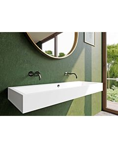 Kaldewei Puro wall double washbasin 906806043030 120x46x12cm, with overflow, 2x1 cock hole, bahamabeige pearl effect