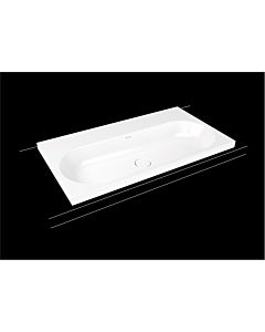 Kaldewei Centro washbasin 902906003727 3056, 90x50x4cm, oyster gray matt pearl effect, without overflow, without tap hole