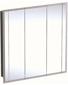 Geberit One Spiegelschränke 500485001 mit Beleuchtung, 3 Türen, Melamin/Aluminium gebürstet, 100x100x16cm