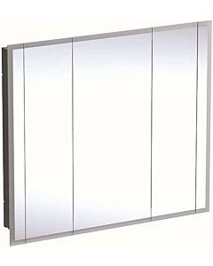 Geberit One Spiegelschränke 500496001 mit Beleuchtung, 3 Türen, Melamin/Aluminium gebürstet, 115x100x16cm