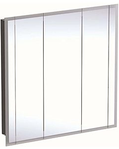 Keramag One Spiegelschränke 500485001 mit Beleuchtung, 3 Türen, Melamin/Aluminium gebürstet, 100x100x16cm