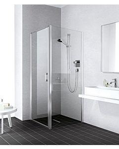 Kermi Liga panneau latéral LITWD090201AK 90x200cm, brillant argent mat, verre de sécurité trempé, sur receveur de douche
