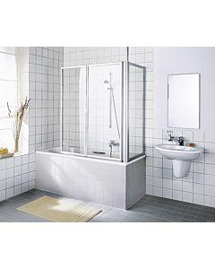 Kermi Vario 2000 Seitenwand V2TWD070142AK 61,4-64,6x140cm, weiß, ESG klar