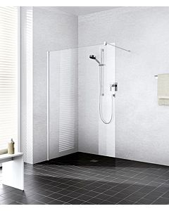 Kermi Système de verre Xb XBWIW12020VAK 118-120x200cm, argent brillant, TSG clair