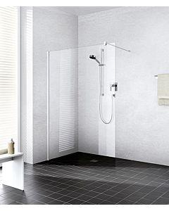 Kermi Xb Glasanlage XBWIW12020VAK 118-120x200cm, silber hochglanz, ESG klar