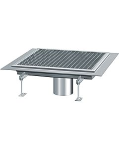 Kessel Ferrofix plateaux de sol 6050100 acier inoxydable, 500x953x70mm, bec vertical