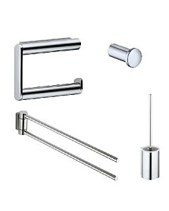 Keuco Plan Bad Accessoires Set Handtuchhalter,Haken,WC-Bürste,Papierhalter