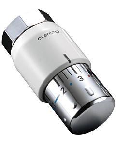 Oventrop Thermostatkopf Uni SH 1012065 weiß/chrom, M 30x1,5, 7-28 Grad