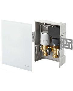Oventrop Unibox Temperaturregler 1022782 R-Tronic Echtglas weiß, für Raum- und Rücklauf