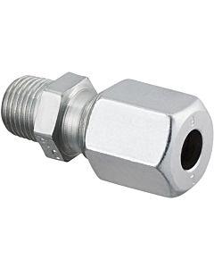 Oventrop Ofix-Oil Gerade-Verschraubung 2083054 R 3/8x10mm, Stahl, verzinkt