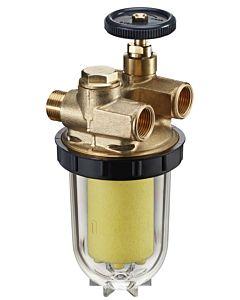 """Oventrop Zweistrang Heizölfilter Oilpur  2120561 mit Siku-Einsatz 50-75My, 3/8"""""""