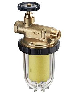"""Oventrop Einstrang Heizölfilter Oilpur 3/8"""" 212356 mit Siku-Einsatz, 50-75my"""