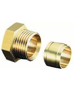 Messing-Klemmringverschraubung 10mm 2127052 für Zweistrangfilter und Flexo-Block