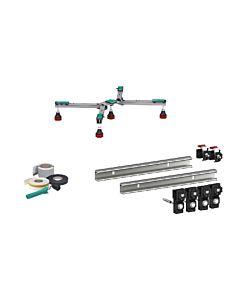 Mepa Duschwannen Set Superflach bis 100x100cm Duschwannenfüße, Wannenleisten, Dichtband