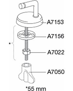 Pressalit Universalscharnier B47 B47P999 Edelstahl, Ersatzteil