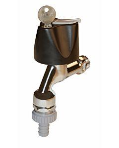 Seppelfricke Sepp Armaturenkombination 0049834 DN 15, Messing verchromt, Rohrbelüfter, Rückflussverhinderer, Schlauchverschraubung