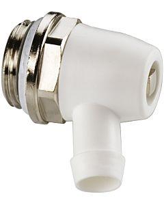 KSB Entleerstopfen F10622 Standard, schwenkbarer Auslauf aus Kunststoff, Messing vernickelt, G 1/2 M