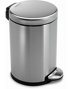 simplehuman trash can CW1852CB brushed fingerprint-proof stainless steel, round, 4.5 l
