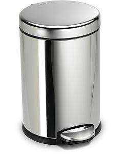 simplehuman waste bin CW1851CB polished fingerprint-proof stainless steel, round, 4.5 l