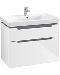 Villeroy & Boch Subway 2.0 Villeroy & Boch Subway 2.0 A91410DH 78.7x59x44.9cm, 2 pull-outs, handle chrome, glossy white