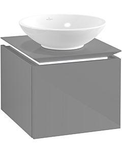 Villeroy & Boch Legato Waschtischunterschrank B565L0FP 45x38x50cm, mit LED-Beleuchtung, Glossy Grey