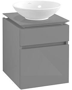 Villeroy & Boch Legato Waschtischunterschrank B56600FP 45x55x50cm, Glossy Grey