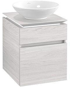 Villeroy & Boch Legato Waschtischunterschrank B566L0E8 45x55x50cm, mit LED-Beleuchtung, White Wood