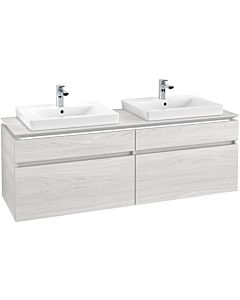 Villeroy & Boch Legato Waschtischunterschrank B693L0E8 160x55x50cm, mit LED-Beleuchtung, White Wood