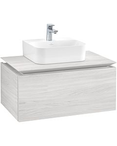 Villeroy & Boch Legato vanity unit B73300E8 80x38x50cm, White Wood