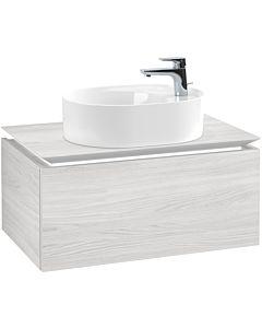 Villeroy & Boch Legato Waschtischunterschrank B769L0E8 80x38x50cm, mit LED-Beleuchtung, White Wood