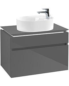 Villeroy & Boch Legato Waschtischunterschrank B770L0FP 80x55x50cm, mit LED-Beleuchtung, Glossy Grey